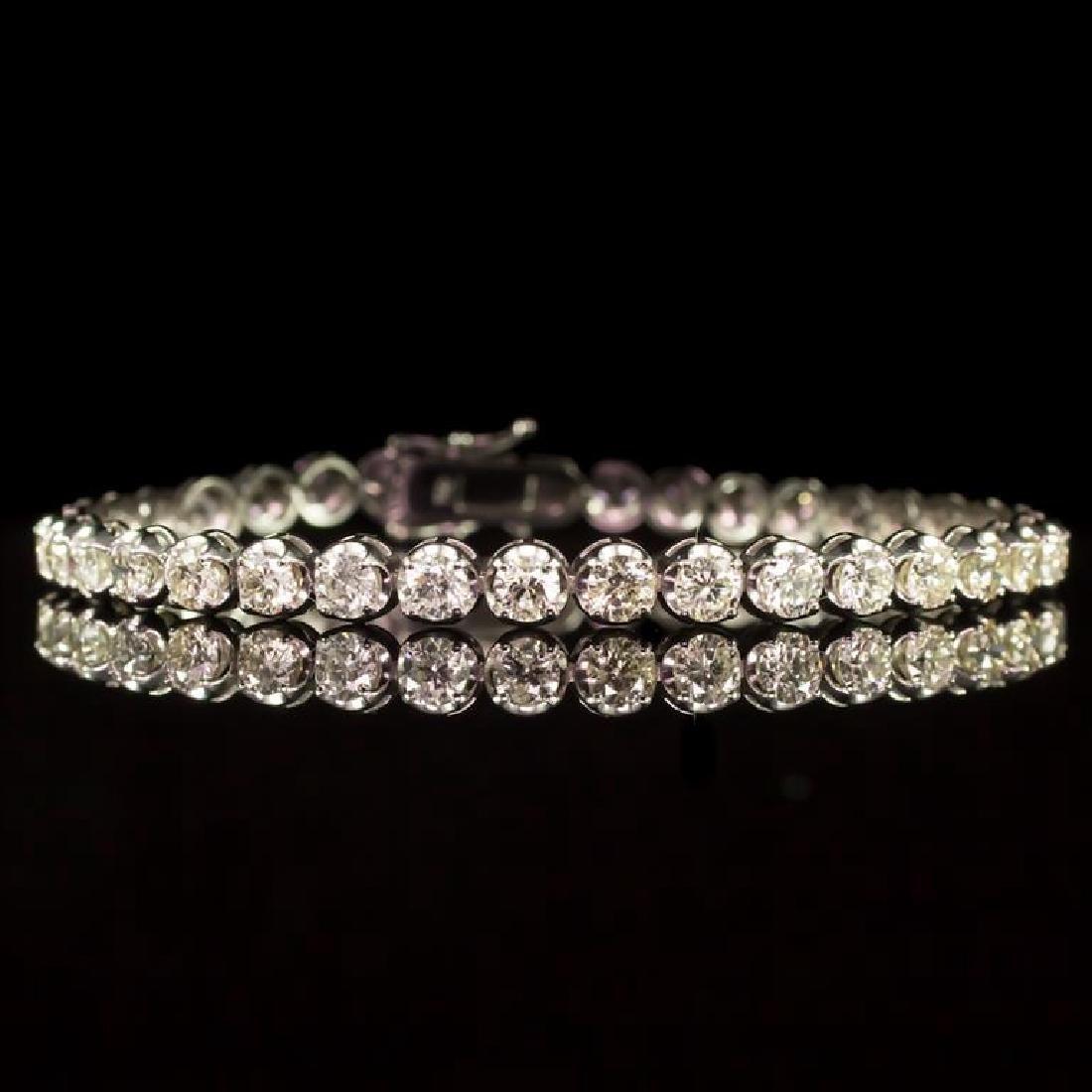 18K Gold 7.33ct Diamond Bracelet