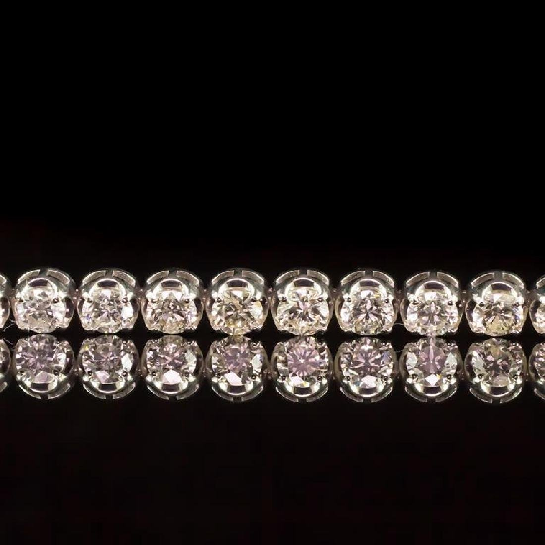 18K Gold 7.33ct Diamond Bracelet - 2