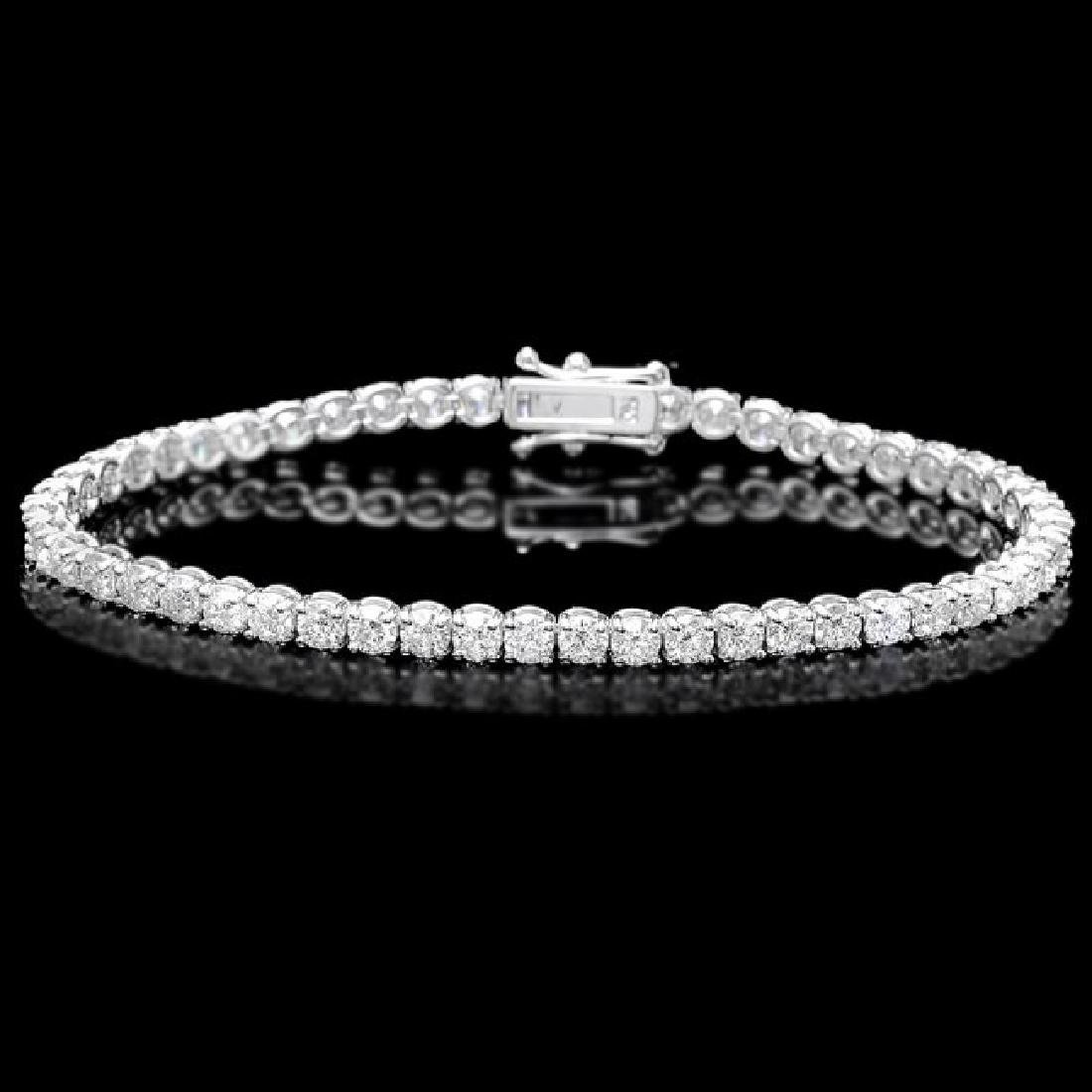 18k White Gold 7.50ct Diamond Bracelet