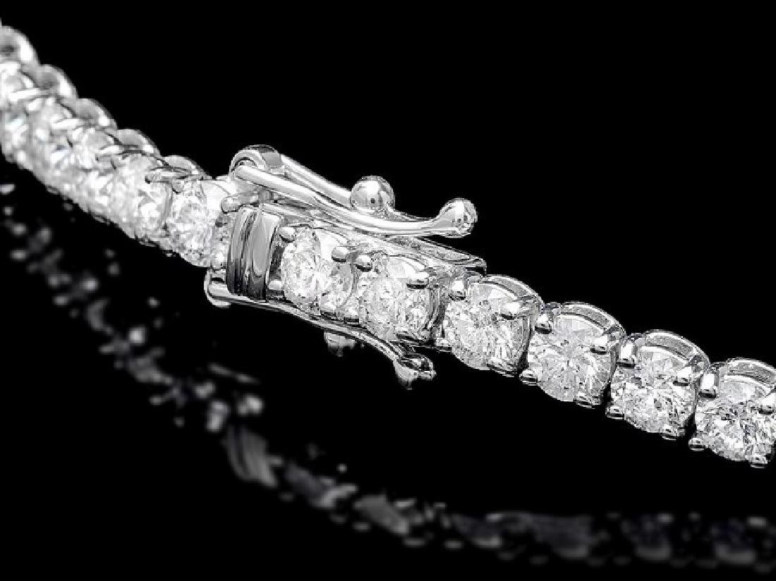 18k White Gold 7.50ct Diamond Bracelet - 2