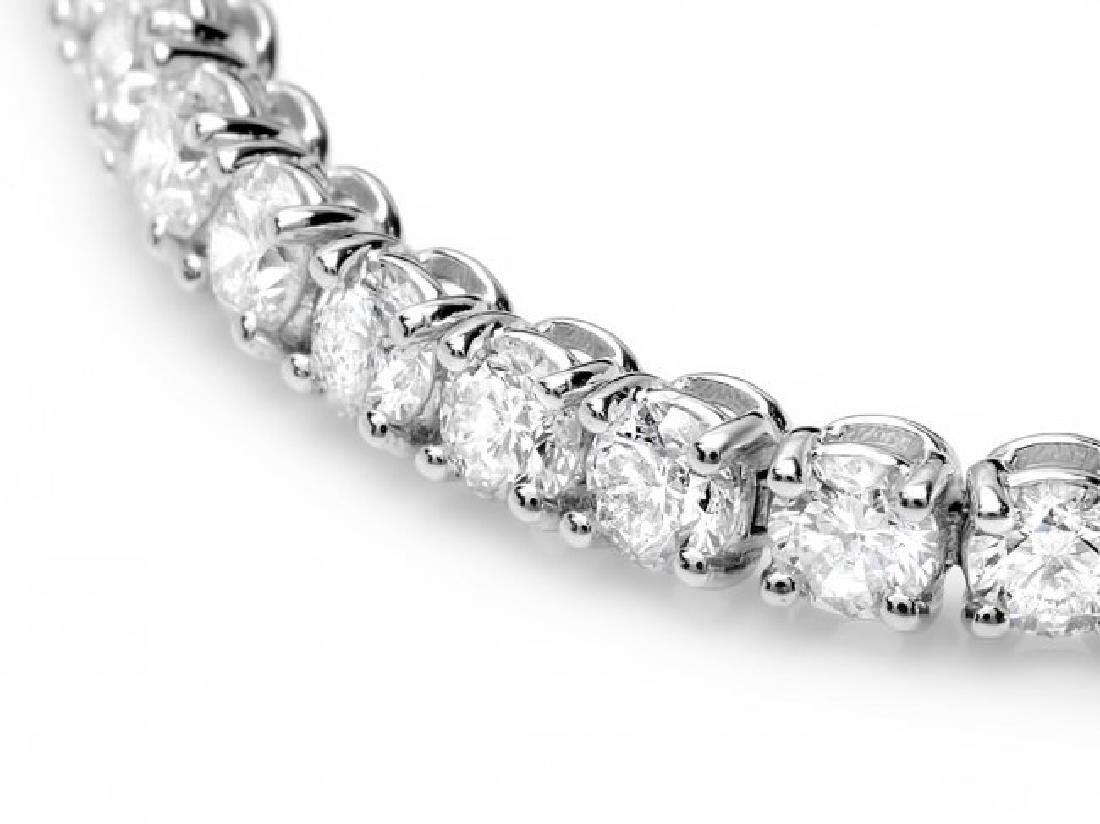 18k White Gold 7.50ct Diamond Bracelet - 3