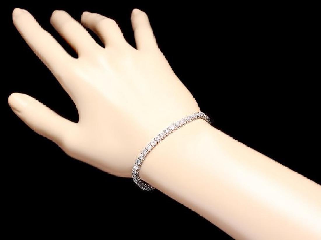 18k White Gold 7.50ct Diamond Bracelet - 5