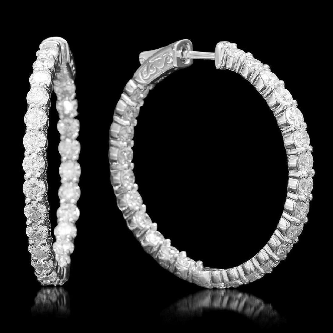 14K Gold 5.31ct Diamond Earrings