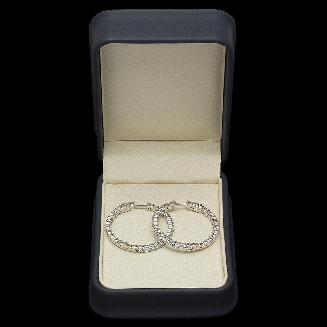 14K Gold 5.31ct Diamond Earrings - 2