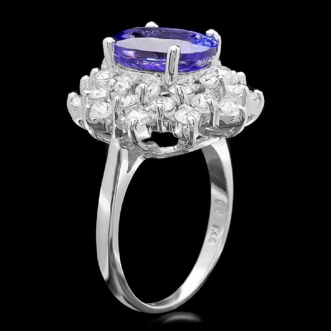 14k Gold 3.50ct Tanzanite 1.70ct Diamond Ring - 2