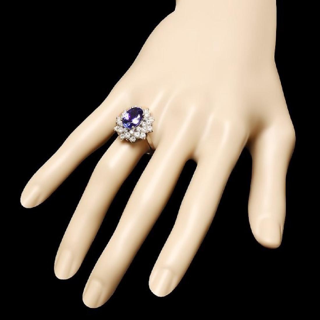 14k Gold 3.50ct Tanzanite 1.70ct Diamond Ring - 3