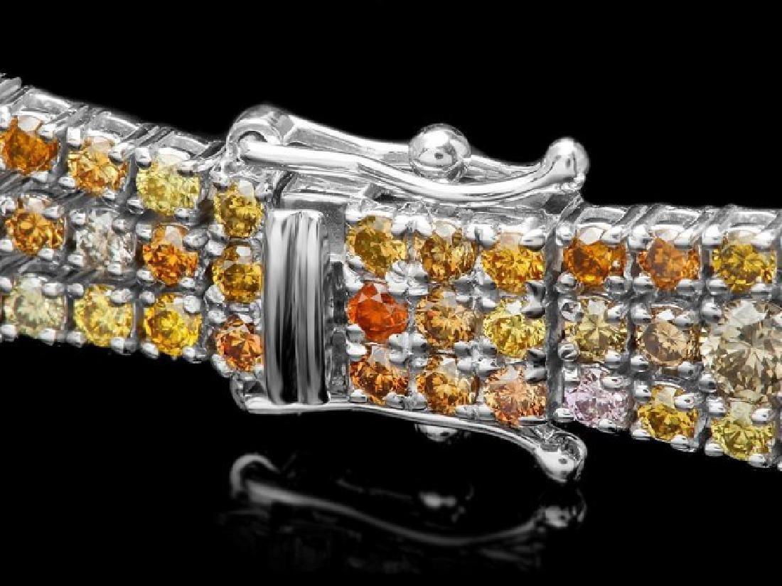 18k White Gold 8.50ct Diamond Bracelet - 2