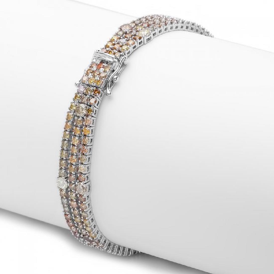 18k White Gold 8.50ct Diamond Bracelet - 3