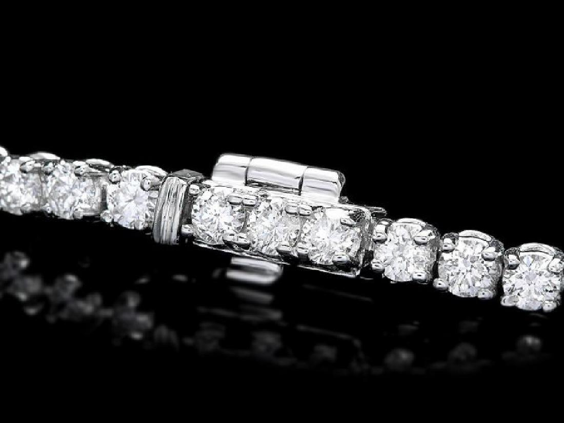18k White Gold 3.00ct Diamond Bracelet - 2