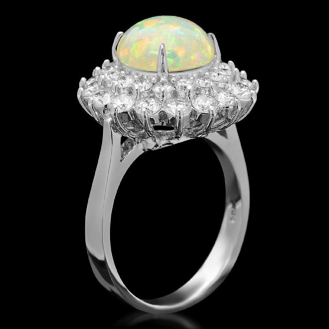 14k Gold 2.73ct Opal 1.95ct Diamond Ring - 2