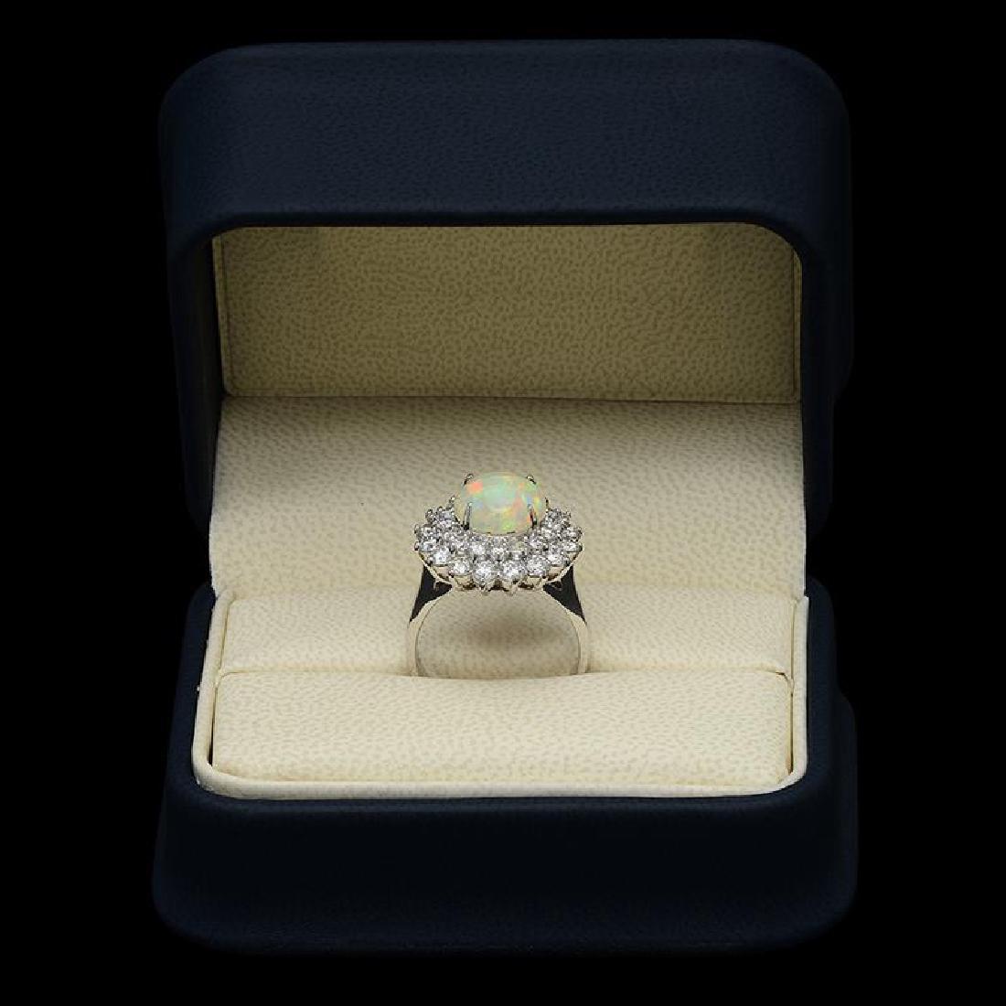 14k Gold 2.73ct Opal 1.95ct Diamond Ring - 3