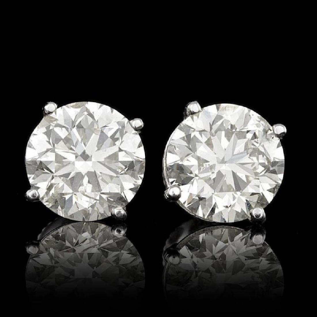 14k White Gold 5.09ct Diamond Earrings