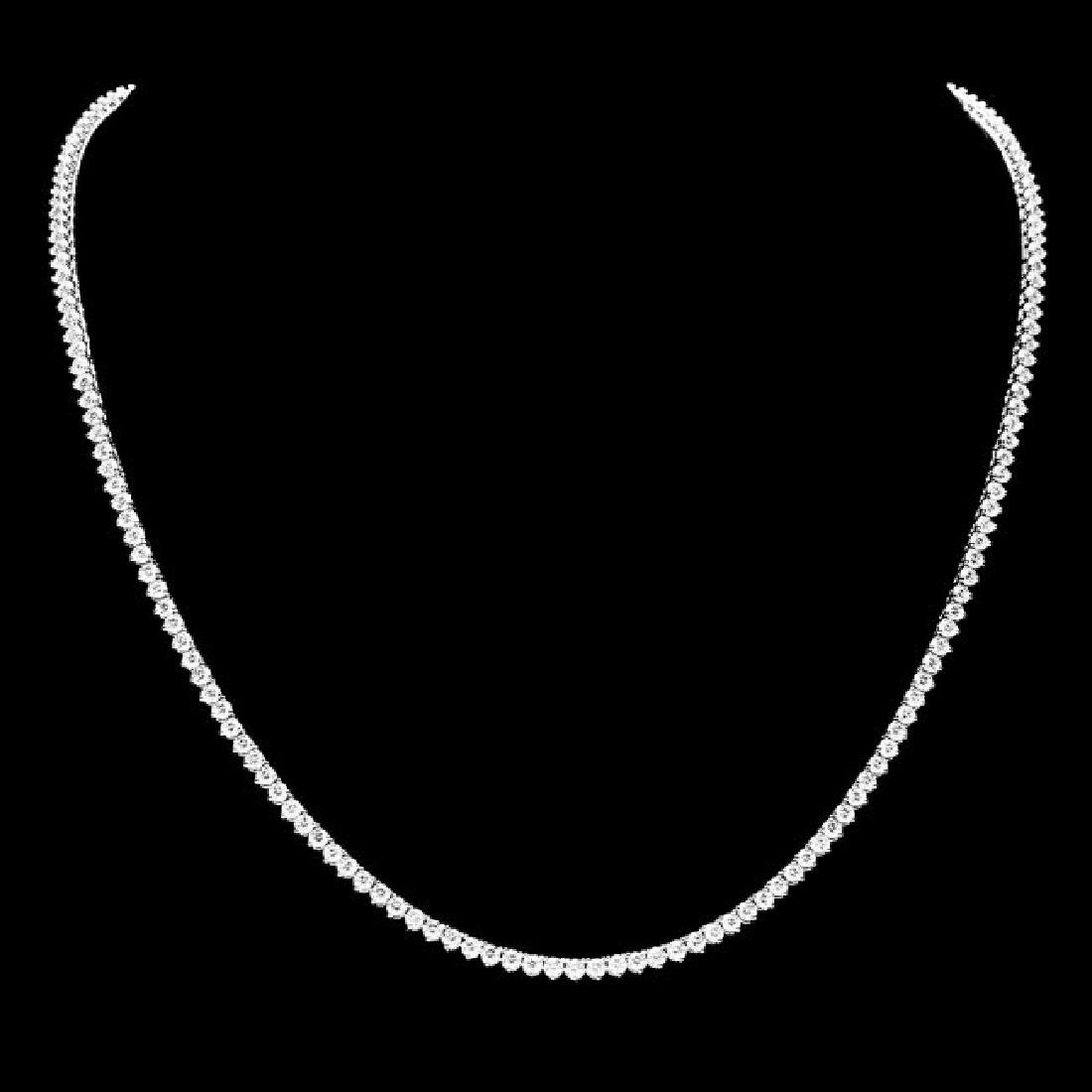 18k White Gold 7.60ct Diamond Necklace