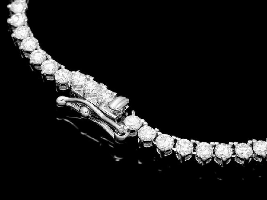 18k White Gold 7.60ct Diamond Necklace - 2