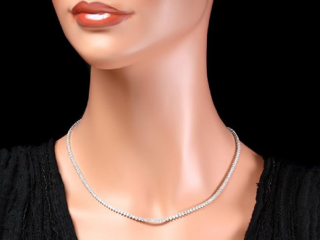 18k White Gold 7.60ct Diamond Necklace - 4