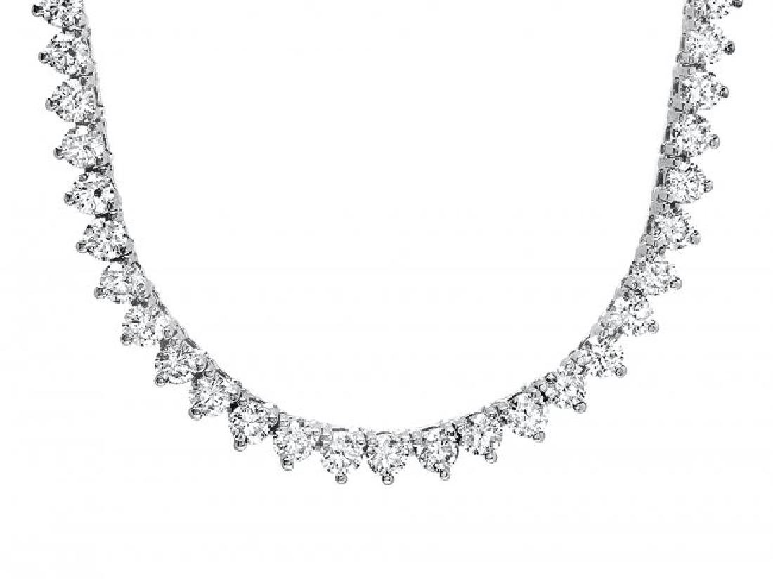 18k White Gold 7.60ct Diamond Necklace - 6