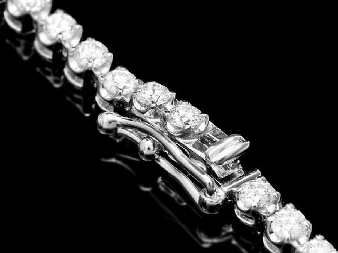 18k White Gold 6.50ct Diamond Necklace - 2