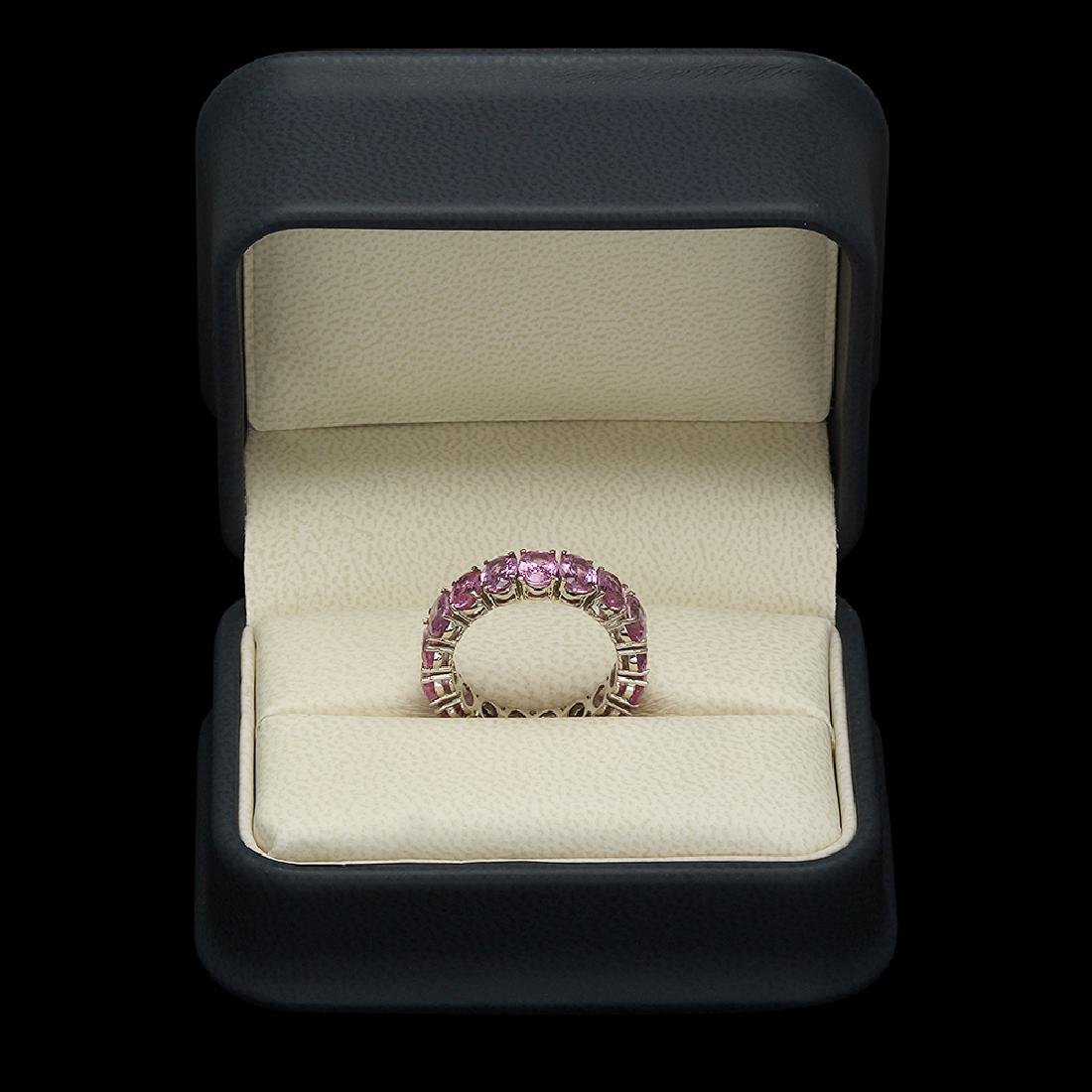 14K Gold 10.25ct Pink Sapphire Ring - 3