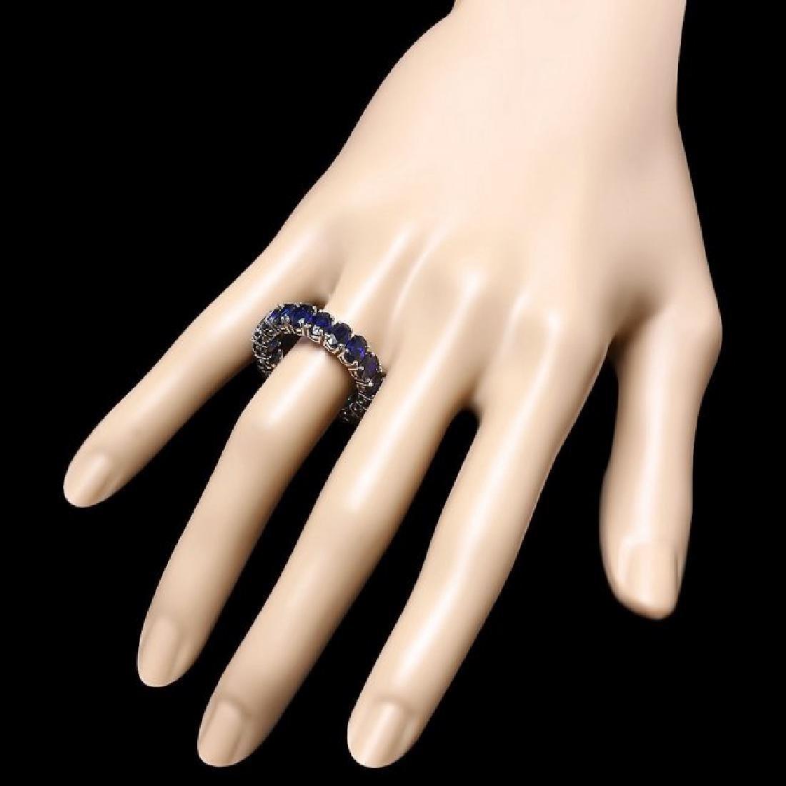 14k White Gold 9.00ct Sapphire Ring - 3