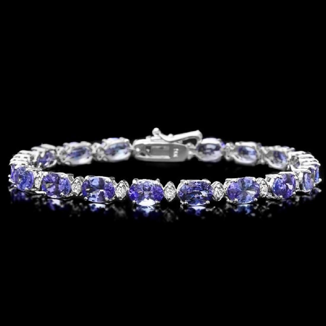 14k Gold 14ct Tanzanite 0.60ct Diamond Bracelet
