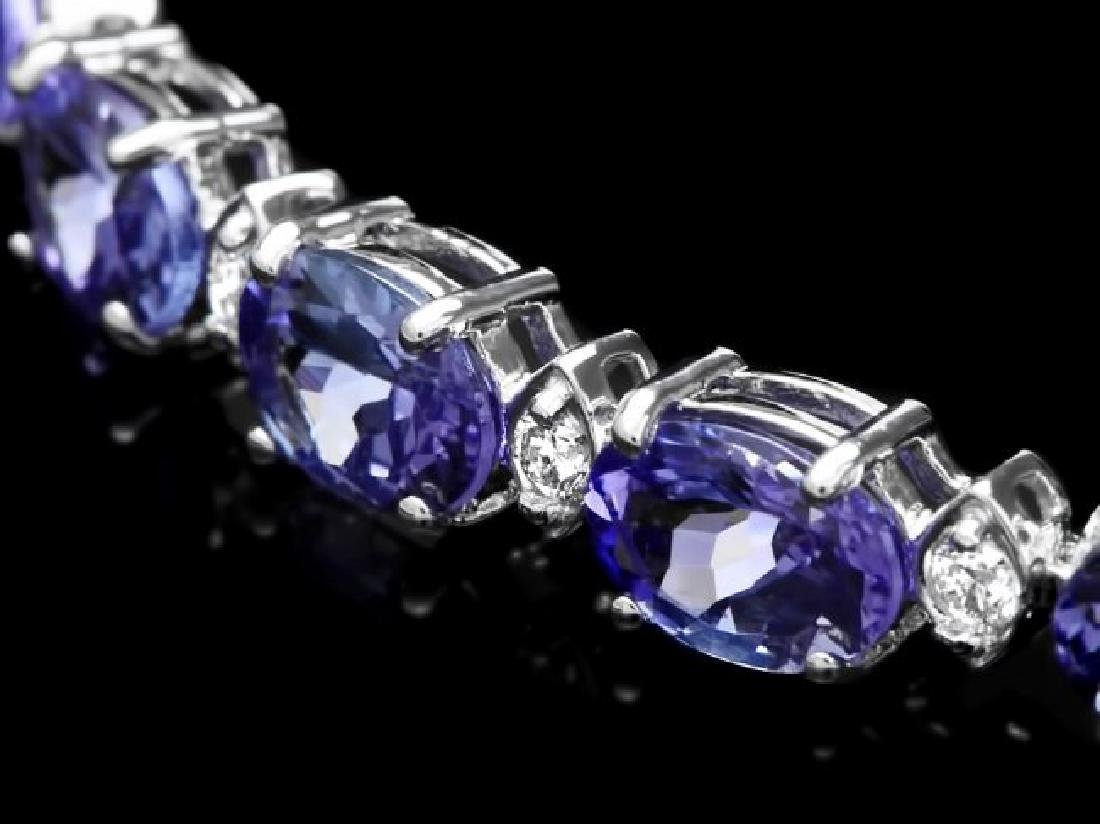 14k Gold 14ct Tanzanite 0.60ct Diamond Bracelet - 2