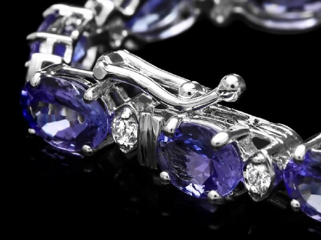 14k Gold 14ct Tanzanite 0.60ct Diamond Bracelet - 3