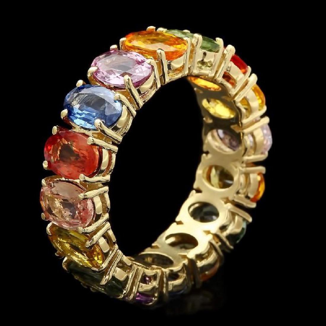 14k Yellow Gold 7.80ct Sapphire Ring - 2