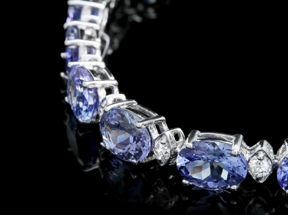 14k 14.00ct Tanzanite 0.90ct Diamond Bracelet - 2