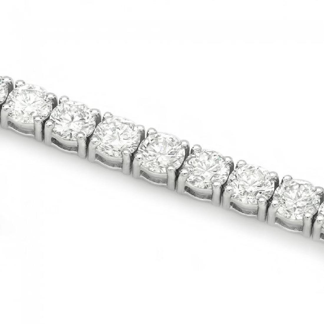 18k White Gold 13.00ct Diamond Tennis Bracelet - 3