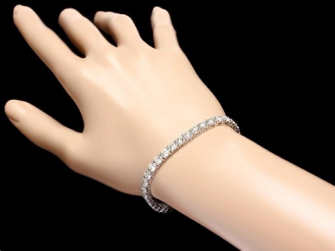 18k White Gold 13.00ct Diamond Tennis Bracelet - 5