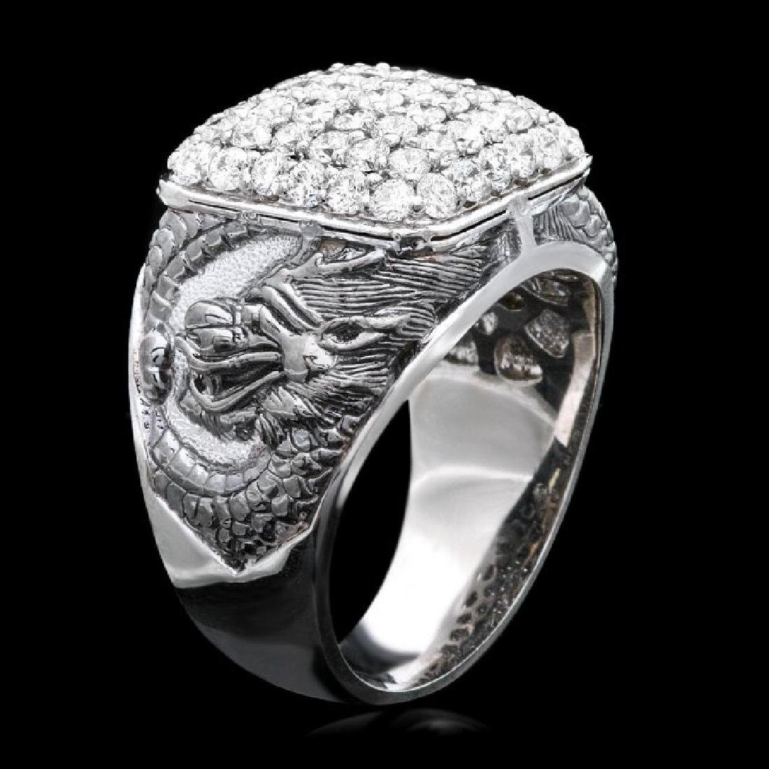 14k White Gold 2.20ct Diamond Mens Ring