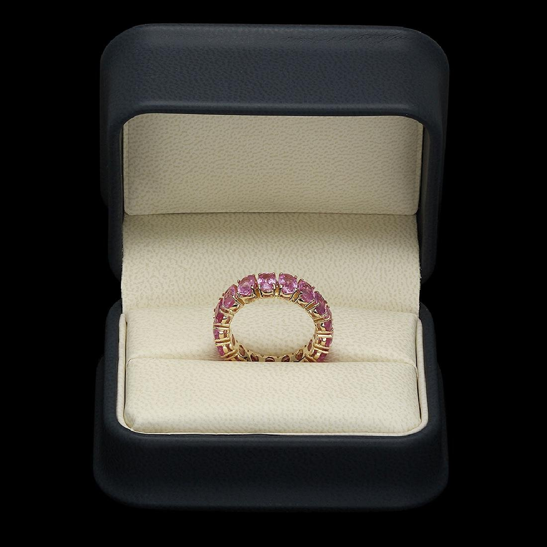 14K Gold 10.28ct Pink Sapphire Ring - 3