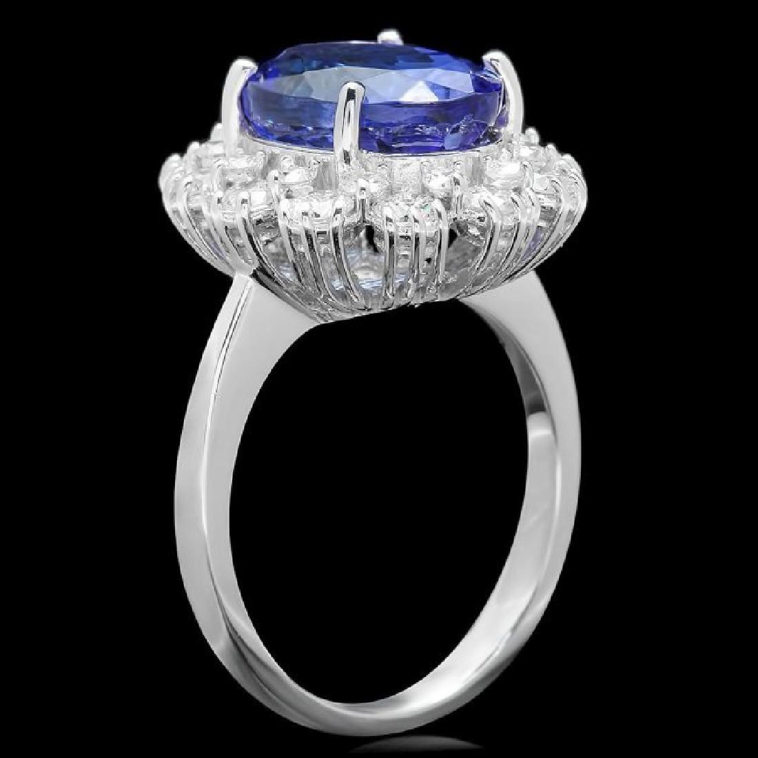 14k Gold 5.50ct Tanzanite 1.30ct Diamond Ring - 2