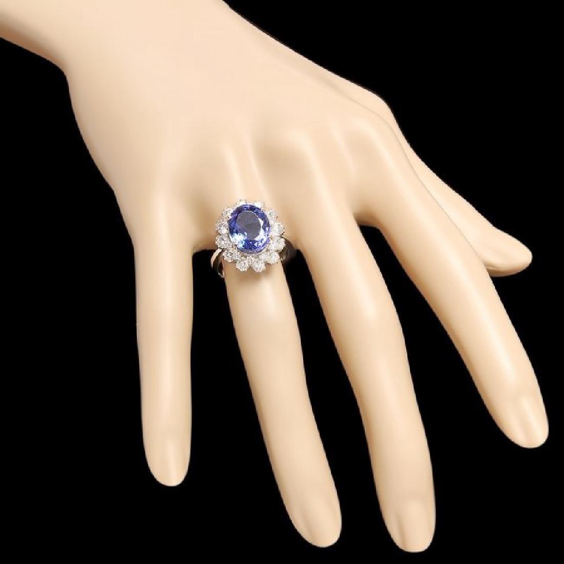 14k Gold 5.50ct Tanzanite 1.30ct Diamond Ring - 3