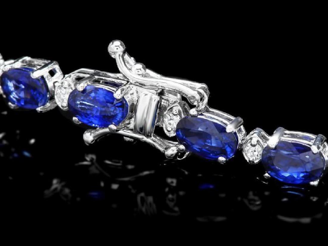14k Gold 14ct Sapphire 0.65ct Diamond Bracelet - 3