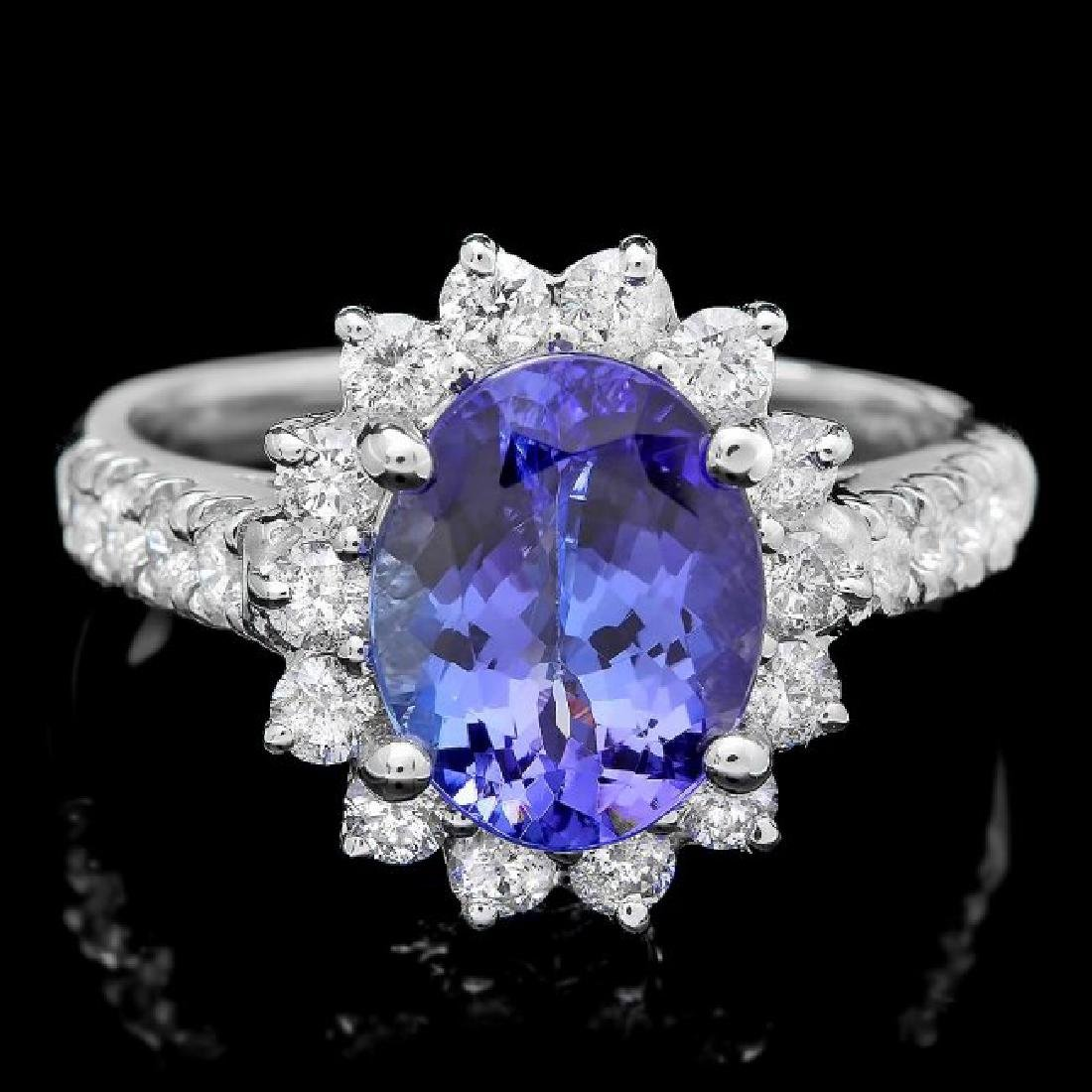 18k Gold 2.00ct Tanzanite 0.80ct Diamond Ring