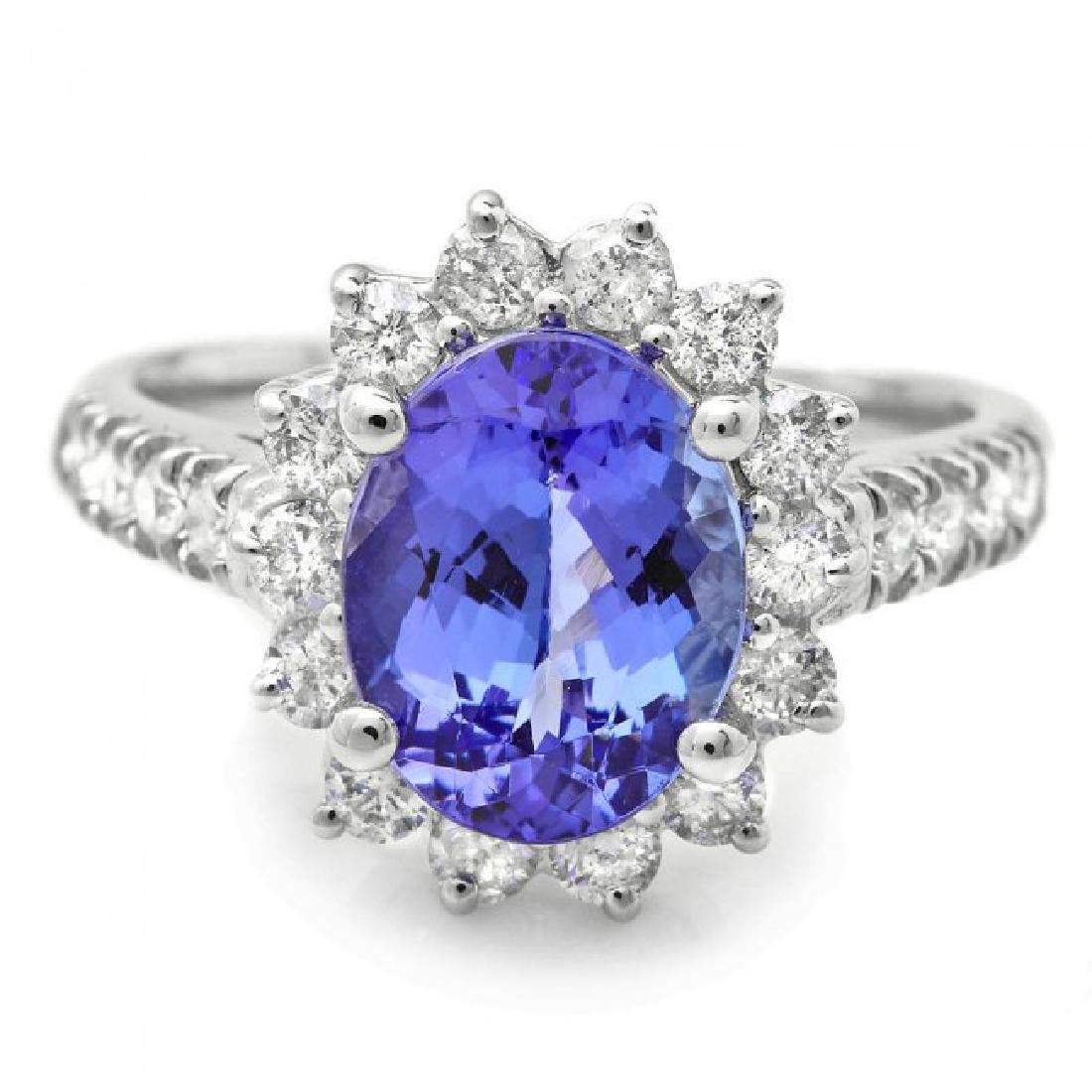 18k Gold 2.00ct Tanzanite 0.80ct Diamond Ring - 2