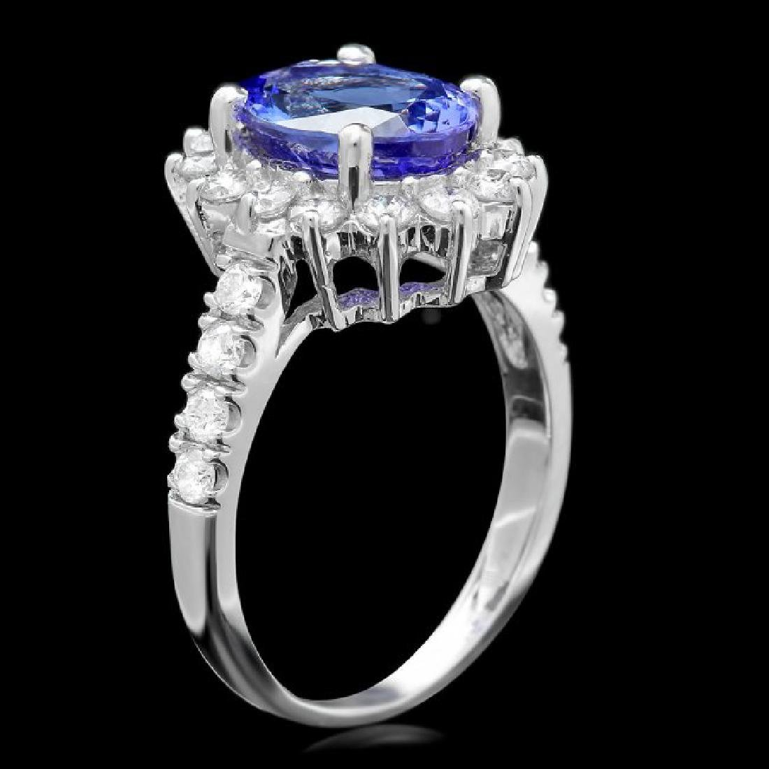 18k Gold 2.00ct Tanzanite 0.80ct Diamond Ring - 3