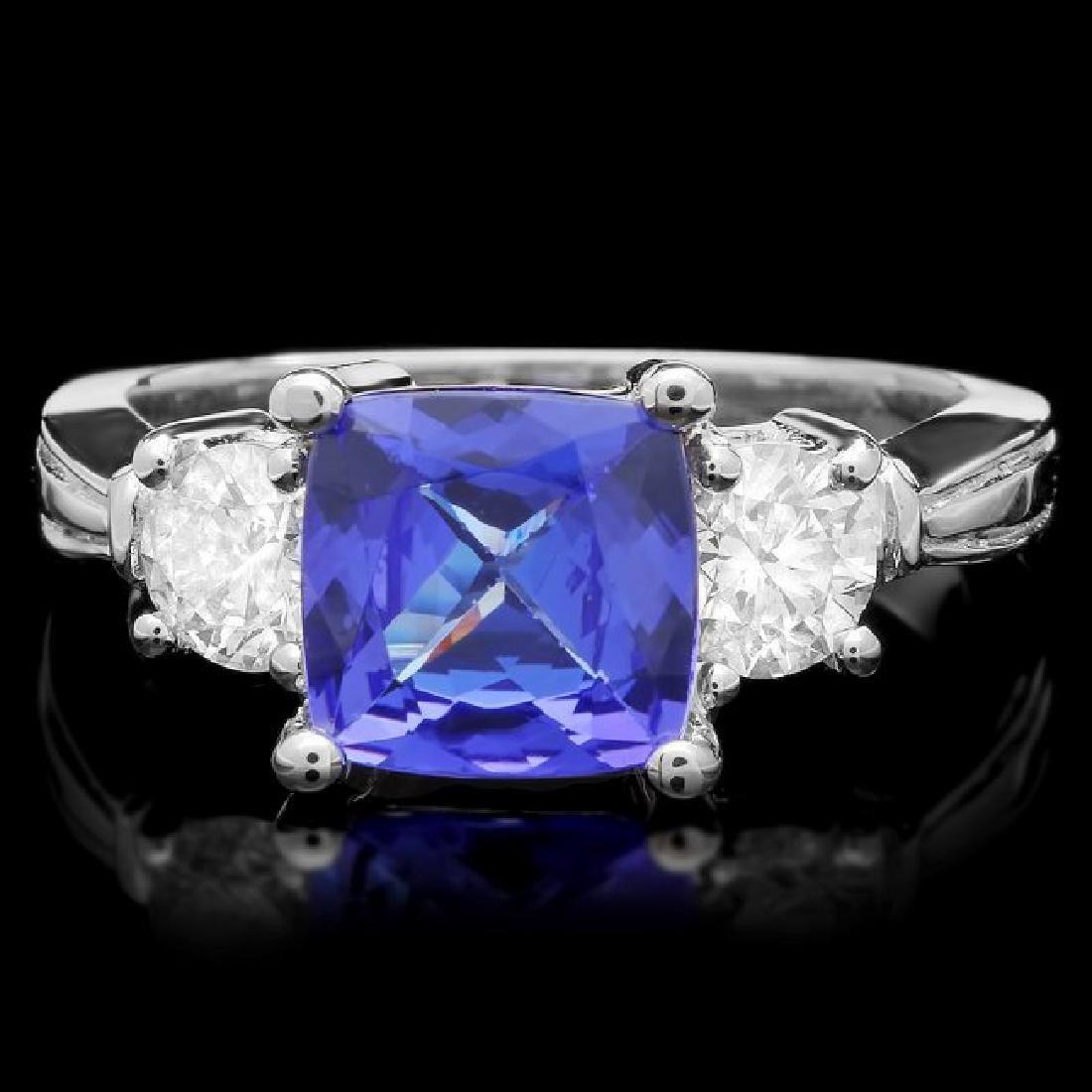 14k Gold 2.00ct Tanzanite 0.80ct Diamond Ring