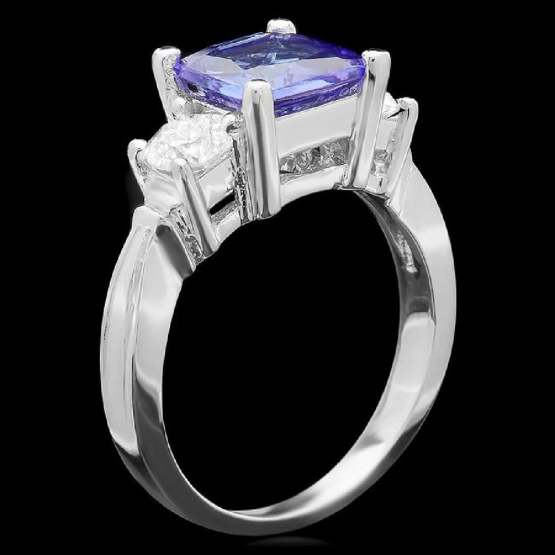14k Gold 2.00ct Tanzanite 0.80ct Diamond Ring - 2