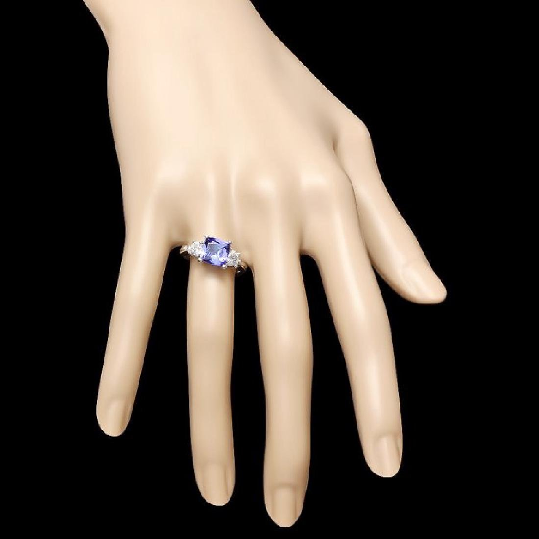 14k Gold 2.00ct Tanzanite 0.80ct Diamond Ring - 3