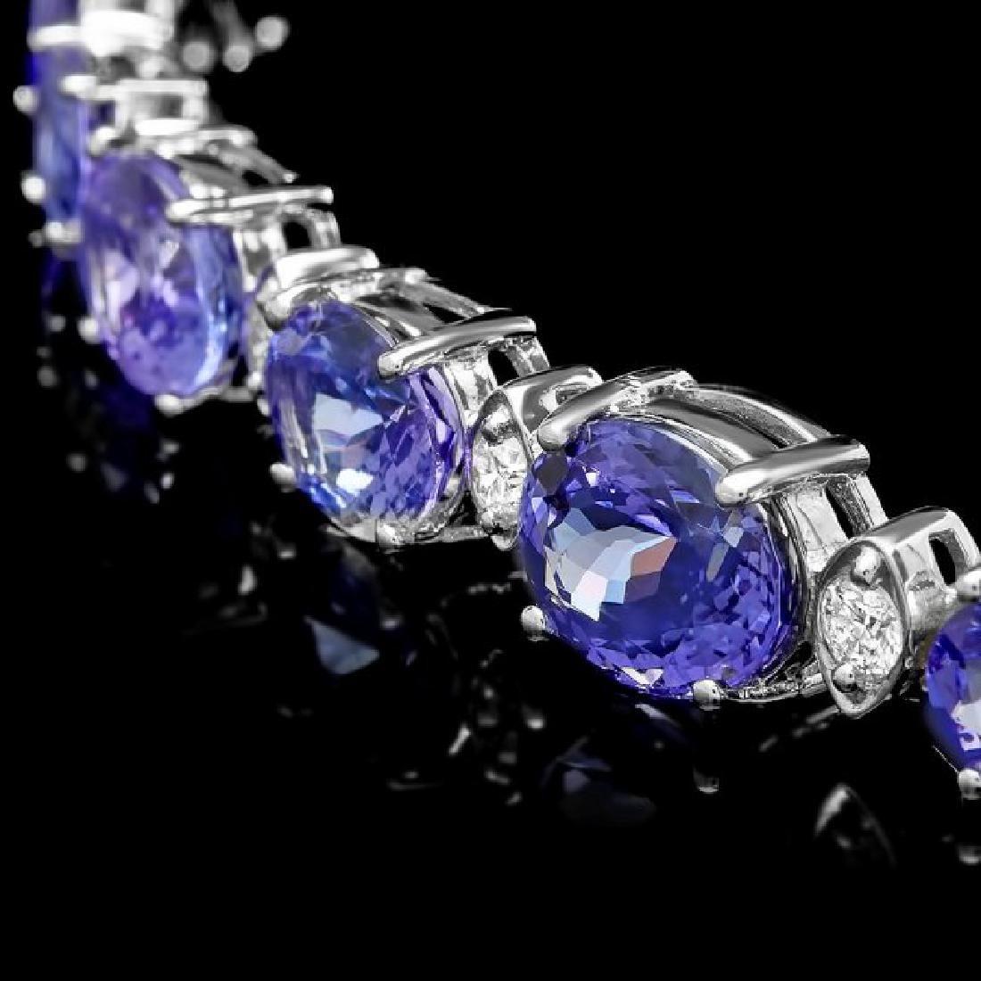 14k 26.00ct Tanzanite 1.10ct Diamond Necklace - 3