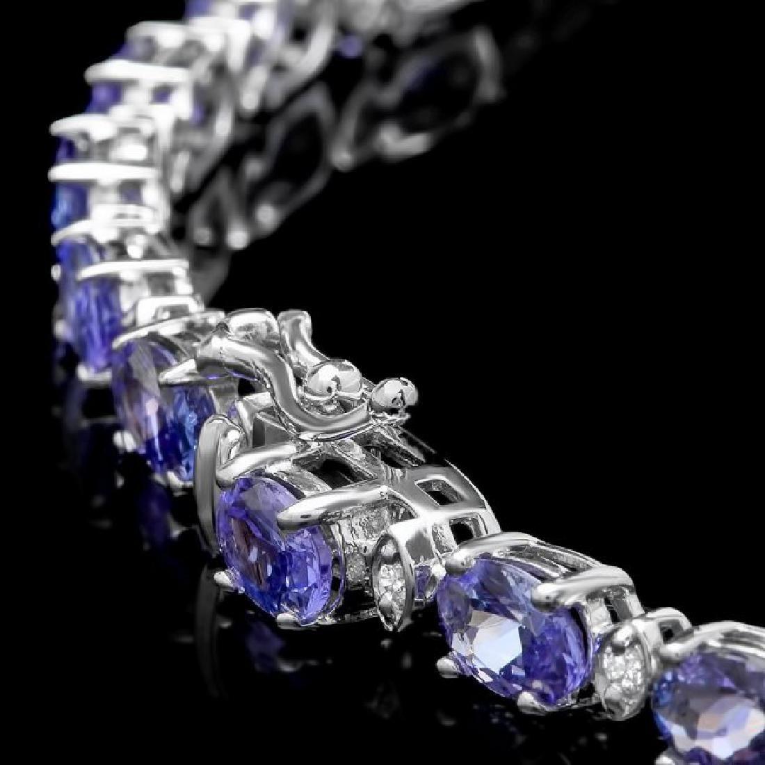 14k 26.00ct Tanzanite 1.10ct Diamond Necklace - 4