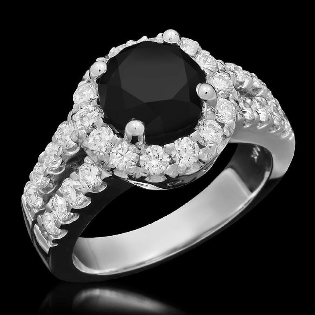 14K Gold 3.0ct Fancy Color Diamond 4.30ct Diamond Ring