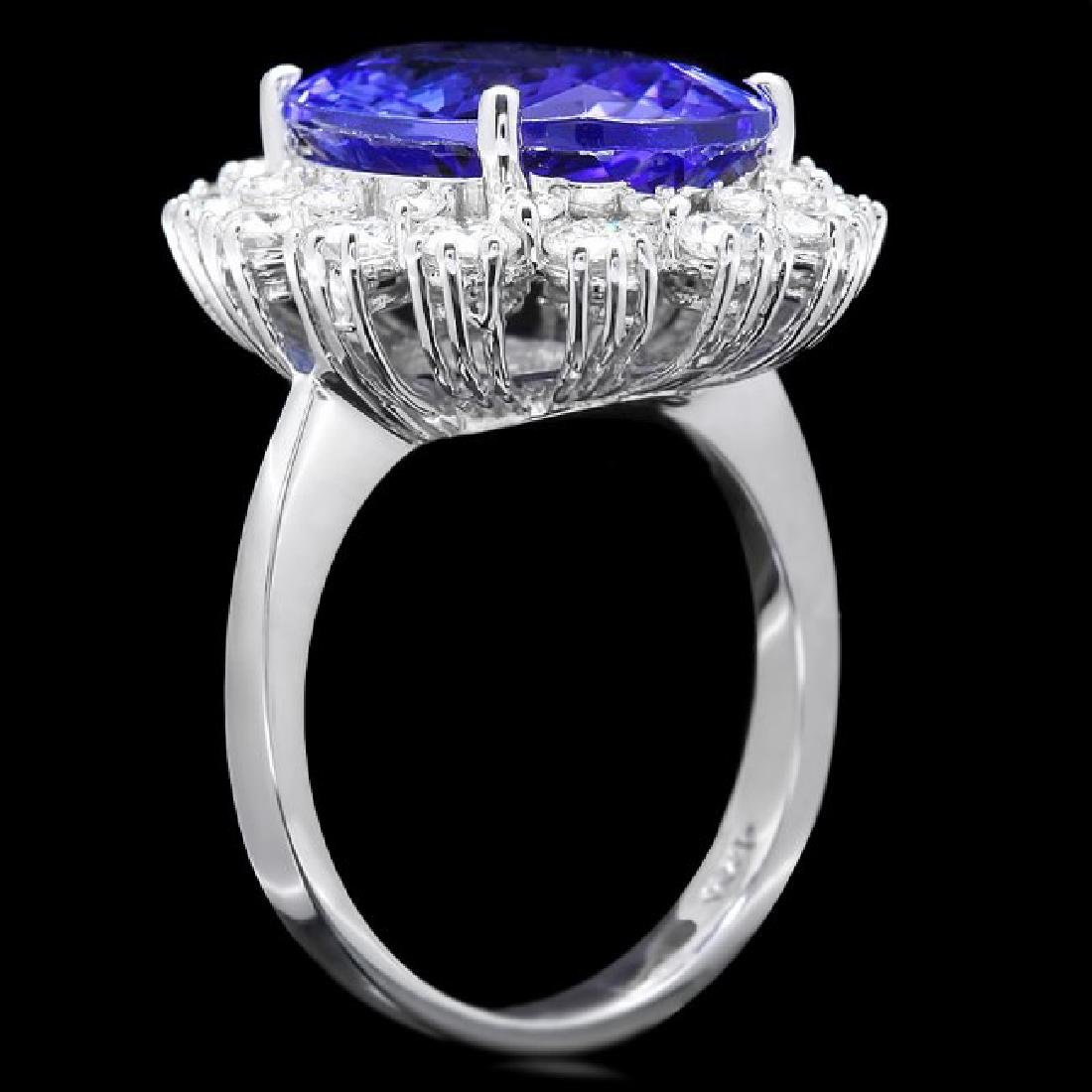 14k Gold 8.00ct Tanzanite 1.90ct Diamond Ring - 3