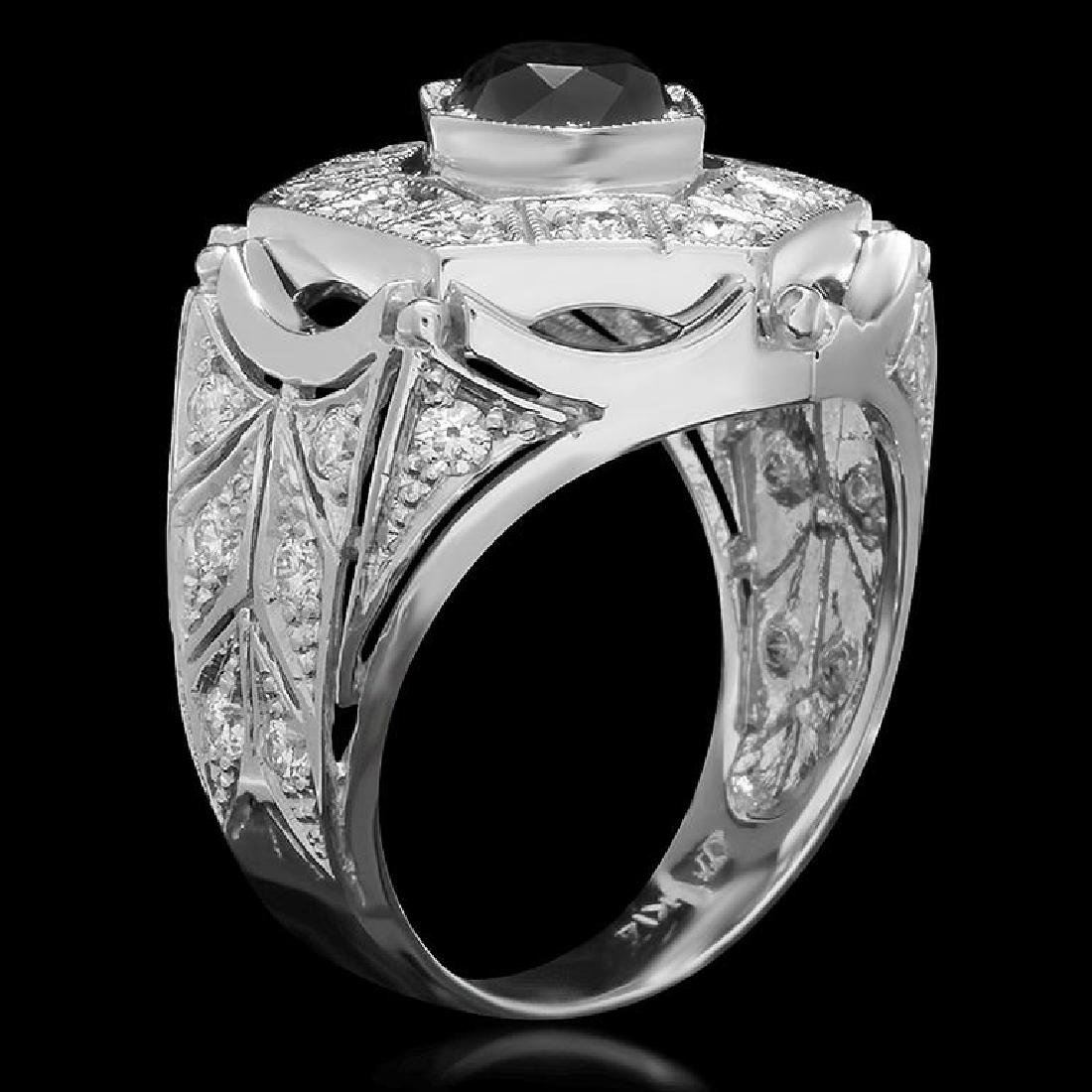 14K Gold 1.95ct Fancy Color Diamond 3.25ct Diamond Ring - 2