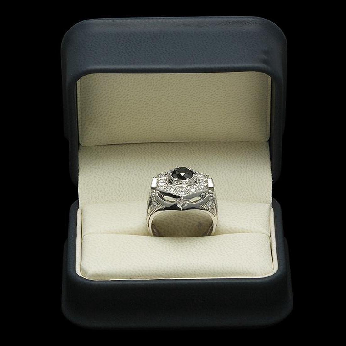 14K Gold 1.95ct Fancy Color Diamond 3.25ct Diamond Ring - 3