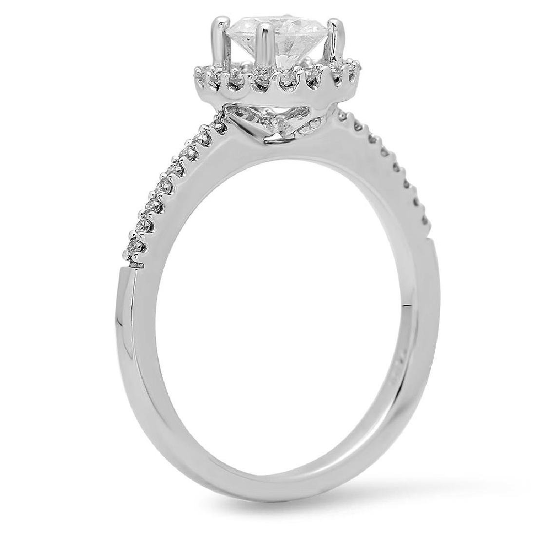 14K Gold 0.52ct Center Diamond 0.72cts Diamond Ring - 2