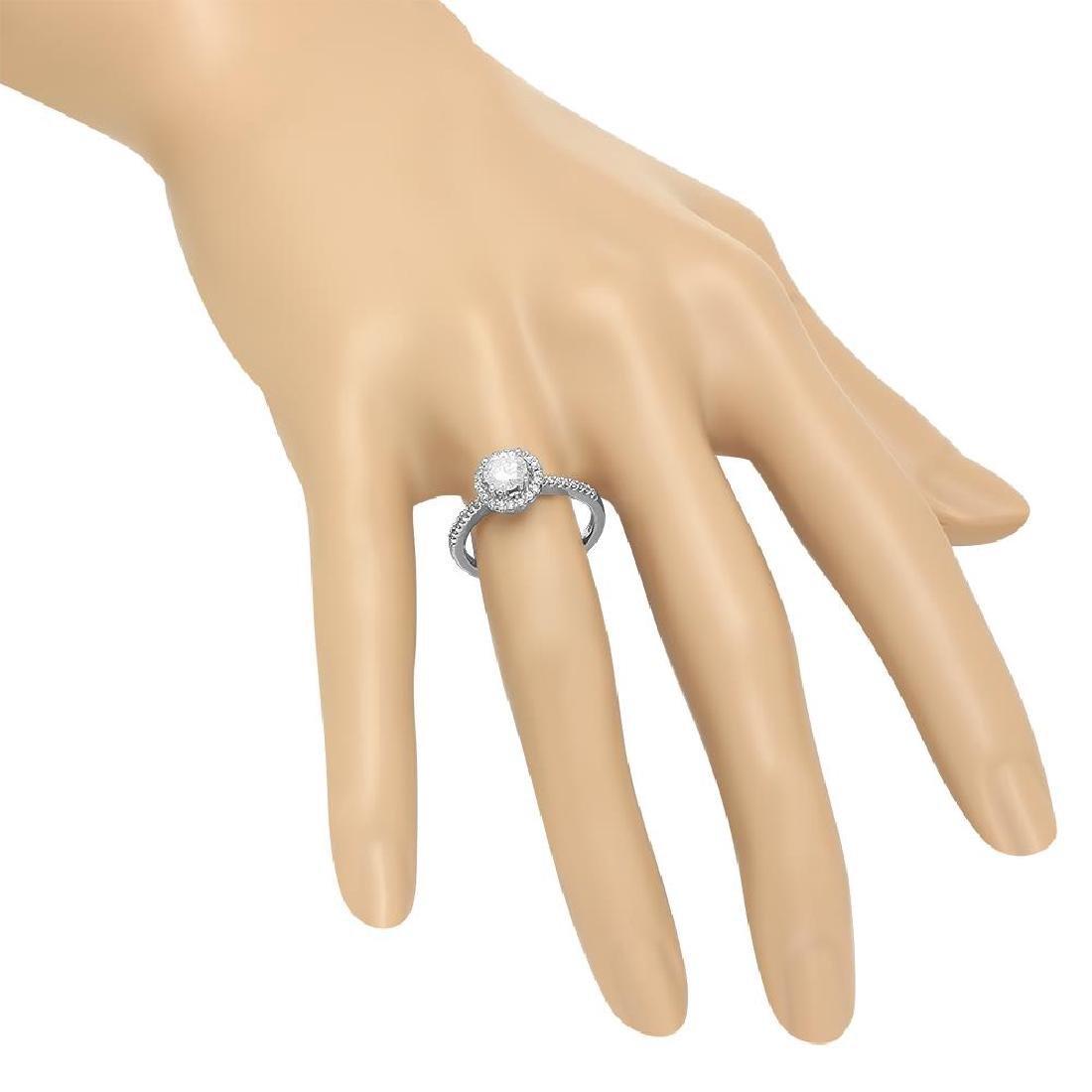 14K Gold 0.52ct Center Diamond 0.72cts Diamond Ring - 3