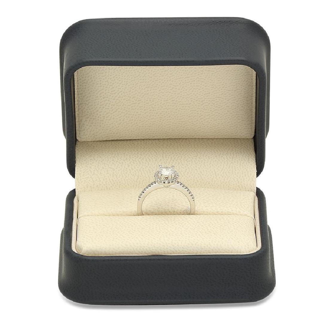 14K Gold 0.52ct Center Diamond 0.72cts Diamond Ring - 4